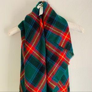 Simonetta Tartan Plaid Blanket Scarf